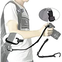 UONNER 落下防止デジタル一眼レフカメラ 安全カメラストラップ カメラ専門の吊りひもストラップ カメラ キャップ ストラップ