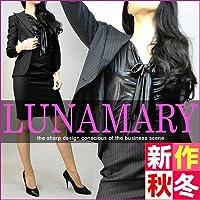 (ルナマリー) LUNAMARY ヒップハング ローライズ レディース スカートスーツ 生地:17.千鳥 (7-6517/S) ジャケット-スカート:11号-07号 ジャケット裏地:ドット柄レッド(86)