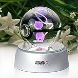 axayinc 3dクリスタルボールLED夜ライトAdvanceレーザー彫刻子供のギフト