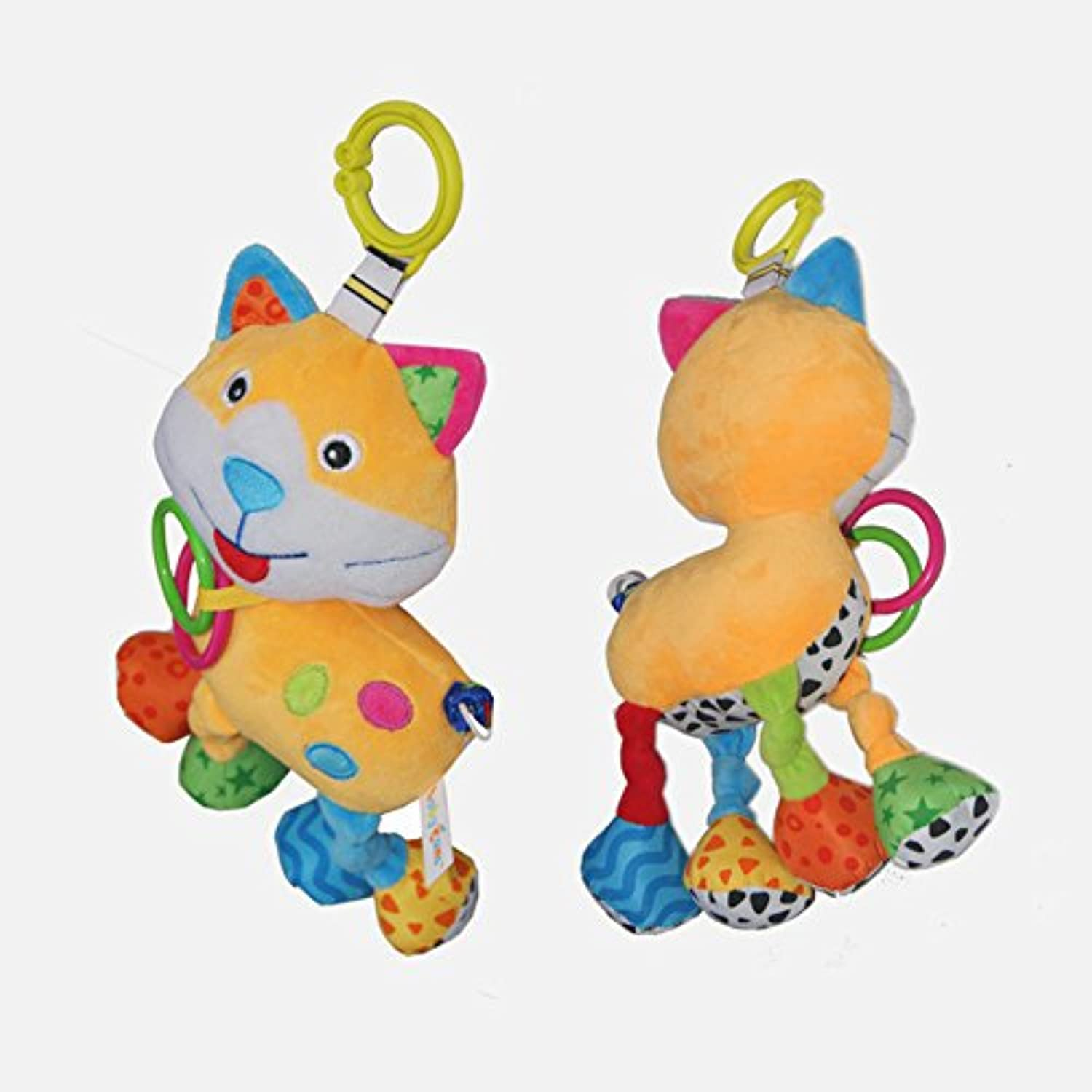 JTENGYAOソフトPlush Animal Baby Rattle Toy with音楽、Can Take in baby hand