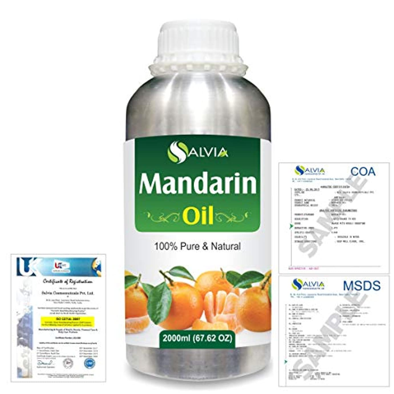 キラウエア山イタリックピーブMandarin (Citrus reticulata) 100% Natural Pure Essential Oil 2000ml/67 fl.oz.