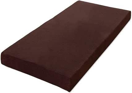タンスのゲン 低反発マットレス 8cm シングル 体圧分散 洗えるカバー付き ブラウン AM 000074 17 (51960)