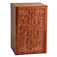 ファインクラフト インディア 手作り 彫刻 装飾用 骨壺 木製ボックス | 寸法: 9 x 6 x 6インチ 重量: 1kg