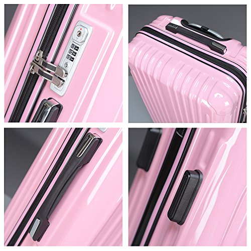 da2bc74dcd strike(ストライク)超軽量 2年保証 スーツケース TSAロック搭載 旅行バック トランクケース 旅行カバン (大型Lサイズ(長期滞在),  ピンク)