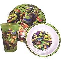Zak Designs TMNT Mealtime Set, Includes Plate, Tumbler and Bowl by Jen-juli