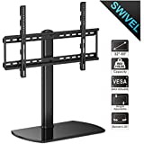 FITUEYES Universal Tabletop TV Stand fit 32 to 65 inch TVs with +/- 40 Degree Swivel and 4.7 inch Height Adjustment TT107002GB