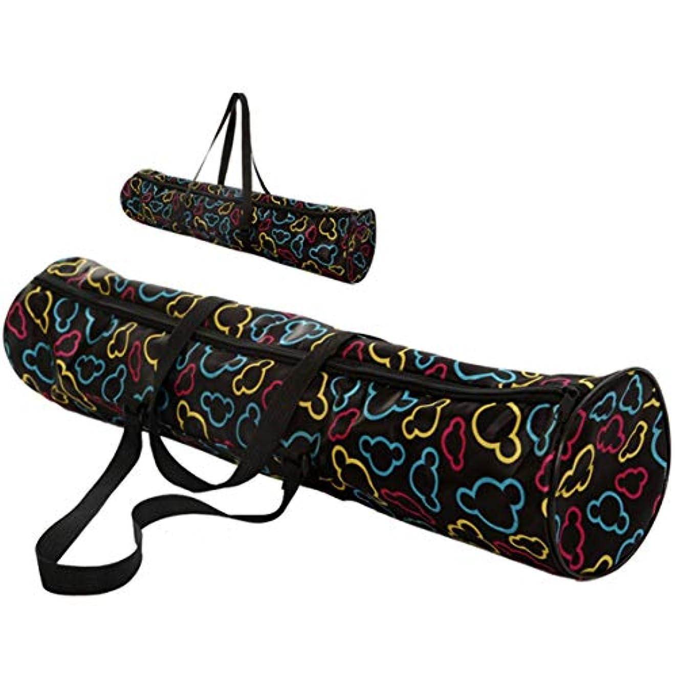 ストライプと遊ぶ尊厳Intercorey多機能防水ヨガマットキャリーバックパックアウトドアスポーツバッグポーチファッションヨガバッグ