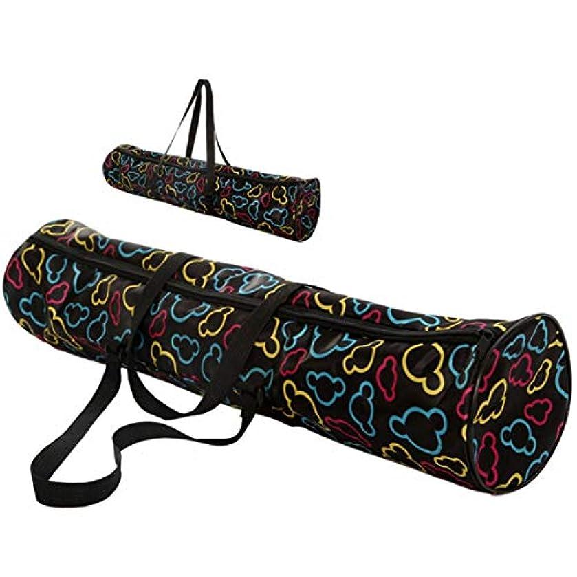 口ひげ父方の観客Intercorey多機能防水ヨガマットキャリーバックパックアウトドアスポーツバッグポーチファッションヨガバッグ