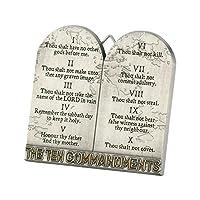 The Ten Commandments Tablets 3 Inch Metal Easelback Wall Cross Sign [並行輸入品]
