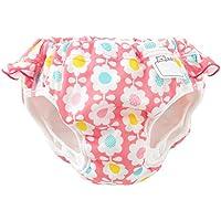 (チャックル) chuckle 花柄フリル付き水遊び用おむつパンツ ピンク 90cm M4201-90-20
