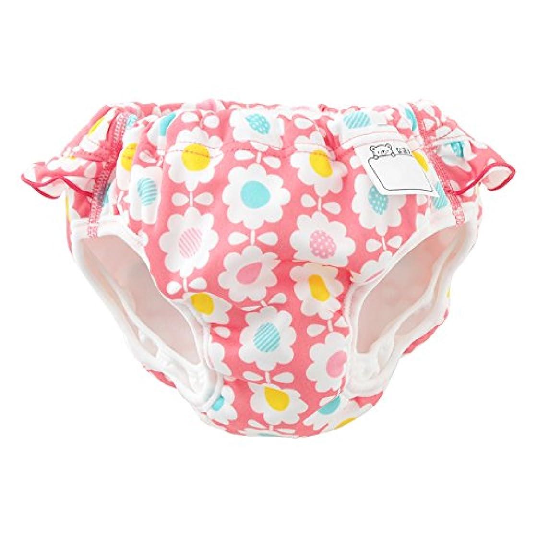 不幸埋める急降下(チャックル) chuckle 花柄フリル付き水遊び用おむつパンツ ピンク 100cm M4201-100-20