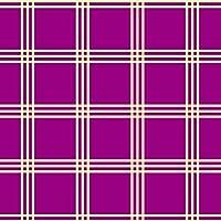 ポスター ウォールステッカー 正方形 シール式ステッカー 飾り 90×90cm Lsize 壁 インテリア おしゃれ 剥がせる wall sticker poster チェック・ボーダー その他 チェック 模様 紫 004415