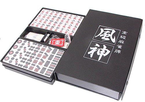 [해외]고급 마작 풍신 옐로우 (마작 패) 실용 패 패 케이스 포함 마작 패 자체도 크고보기 쉬운 마작./Luxury mahjong tile wind fellow yellow (mah-jong tile) practical tile tile case attaching mah-jong pie font Mahjong tile with great easy to s...