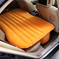 SUV車のエアベッド屋外旅行キャンプインフレータブルマットレス多機能車内エアベッドセットバックシート、オレンジ