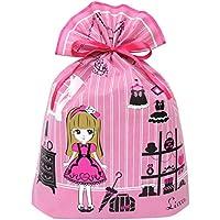 インディゴ タカラトミー リカちゃん ラッピング袋 ギフトバッグLL ピンク TA093