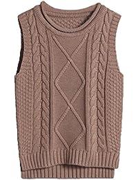 (コ-ランド) Co-land ニット ベスト 子供服 セーター ケーブル編み 袖なし ガールズ 女の子 キッズベスト トップス 制服 通学