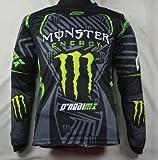 カー モンスターエナジー バイク用品 新デザイン オートバイ 保護装備長袖Tシャツ レーシングスーツ Monster Energy (XL)