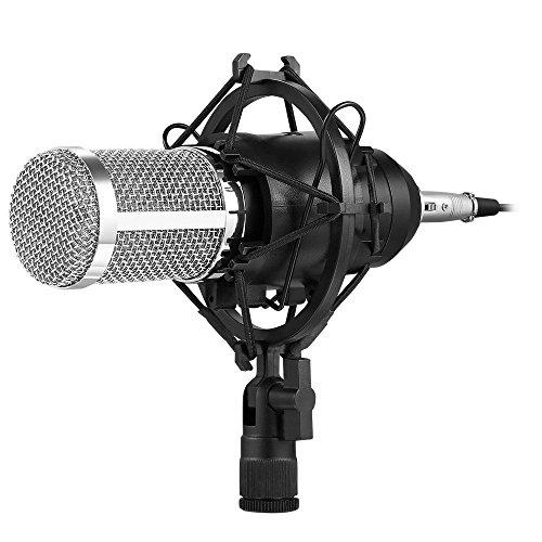AVANTEK コンデンサーマイク 高音質 単一指向性 3.5mmミニプラグ スタジオ 録音 生放送 ゲーム実況 PC用 MP-9