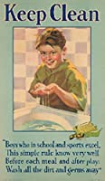 Palmolive – Keep Clean ( Boy )ヴィンテージポスターUSA C。1928 24 x 36 Signed Art Print LANT-62252-710