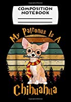 Composition Notebook: My Patronus is a Chihuahua Dog Christmas Pajama Gift, Journal 6 x 9, 100 Page Blank Lined Paperback Journal/Notebook