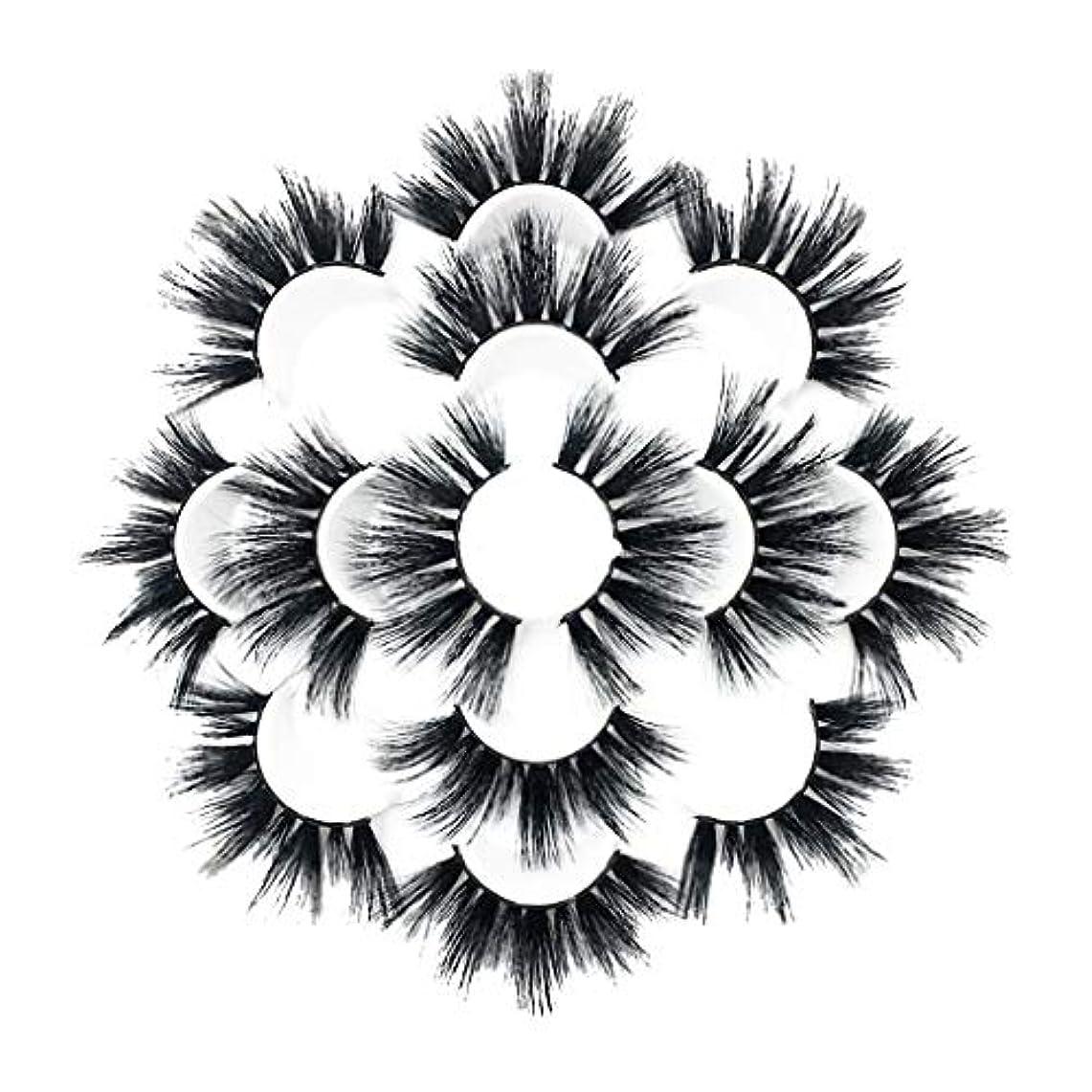 ポータルビルマ広大な7ペアラグジュアリー8D Falseまつげふわふわストリップまつげロングナチュラルパーティー