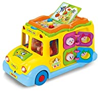 Intellectual school bus Activity Toy Vehicle with Music Sounds and Lights for Toddlers [並行輸入品]
