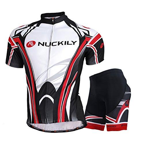 NUCKILY サイズ:L 春用 夏用 半袖 NUCKILY 商標登録済 上下セット サイクルウェア サイクルジャージ 高級Lycra素材 3D立体デザイン 6980609364557