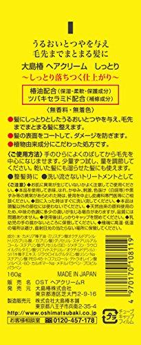 大島椿 ヘアクリーム しっとり 160g