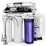 iSpring 123Filter 75GPD 5段階 逆浸透膜 RO浄水システム、ブースターポンプ付き、型番RCC7P