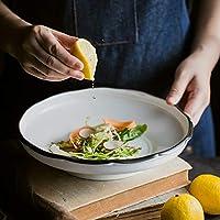 白いヨーロピアンスタイルの食器 - ステーキ寿司刺身パスタフルーツと野菜サラダプレート【1パック】 プレート (サイズ さいず : L l)