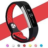Hanlesi Fitbit Alta HR バンド 柔らかいシリコンFitbit Alta交換ベルト調整可能 多色選択 スポーツ