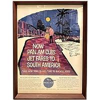 パンナム PANAM リオデジャネイロ 1960年代 ビンテージ広告 ポスター アートフレーム 額付