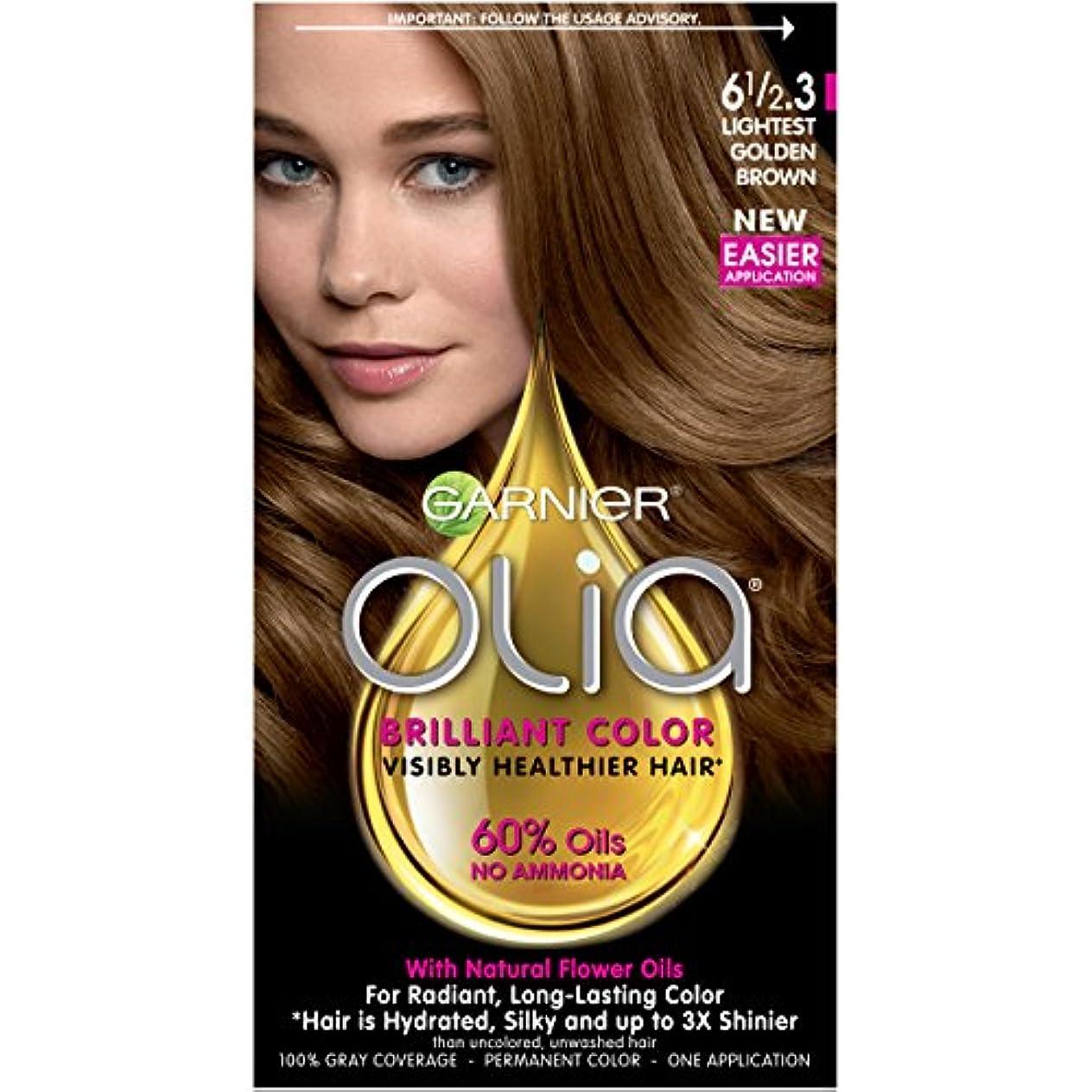 条約から聞く無視Garnier Oliaヘアカラー、6 1 / 2.3最軽量ゴールデンブラウン、アンモニア無料髪の色素(梱包が変更になる場合があります)