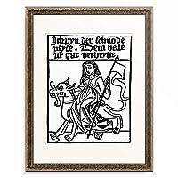 作者不明 (Southern-West-German) 「Envy. About 1480」 額装アート作品