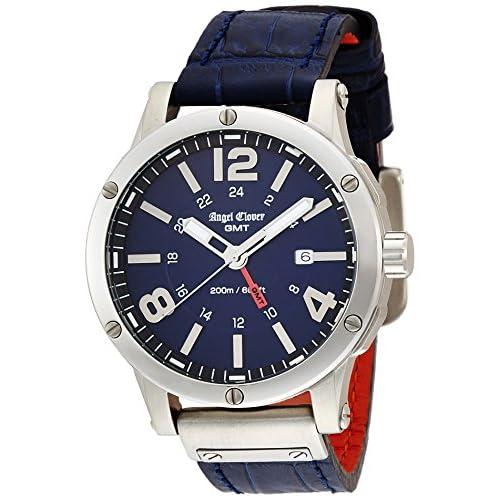 [エンジェルクローバー]Angel Clover 腕時計 エクスベンチャー ブラック文字盤 GMT機能 デイト EVG46SNV-NV メンズ