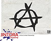 JINTORA ステッカー/カーステッカー - anarchies - anarchies - 111x99 mm - JDM/Die cut - 車/ウィンドウ/ラップトップ/ウィンドウ - 黒