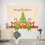 Rose クリスマスタペストリー 壁掛け デコレーション インテリア 飾り付け クリスマスツリーリボン付