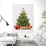 QBSM タペストリー クリスマスツリー 215cm×145cm Merry Christmas 北欧 おしゃれ 飾り布 壁に飾れるクリスマスツリー クリスマスデコレーション ガーランド