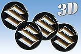 ホイールステッカースズキ模造全サイズセンターキャップロゴバッジホイールトリム3D 53mm, Suzuki