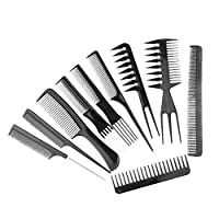 Unknown 10pcs Salon Barbers Hair Styling Hairdressing Brush Combs Set