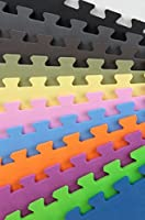 IncStores 連結式プレミアムフォームタイル p90x/Insanity/ピラティス/ヨガ/その他のエアロビや有酸素運動や子どものプレイルームに最適 12 Tiles (48Sqft)