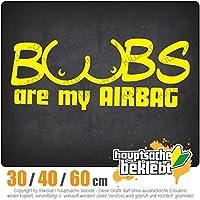 Boobs are my Airbagy - 3つのサイズで利用できます 15色 - ネオン+クロム! ステッカービニールオートバイ
