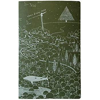 コクヨ 手帳 2020年 A5変形 マンスリー えほんダイアリー 緑 KE-SP9-3-20G (2019年12月始まり)