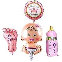 4PCSの風船の赤ちゃん誕生日パーティーの装飾誕生日 100日祝い 飾り アルミ風船 (女の子)