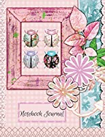 Notebook Journal: Vintage Ladybug 8.5 X 11 Composition Planner for School Doodles, Drawings, Writing, Learning, Note Taking for Students and Teachers