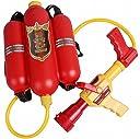 Magno スライド式 水鉄砲 ウォーターガン タンク 2500cc 水出口 2パターン 飛距離 6-8m (赤)
