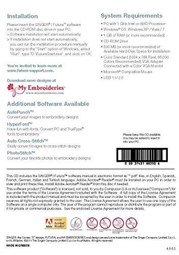 Futura Editing Software for XL-400