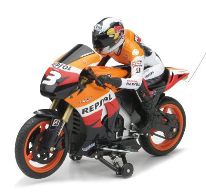 New Ray - 88525 - V?hicule Radio Commande - Moto Repsol Honda 2009 avec Pilote - Echelle 1/9° [並行輸入品]