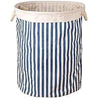 家庭用大型折りたたみ式ストレージバスケット籠バッグ/オーガナイザー、ブルー