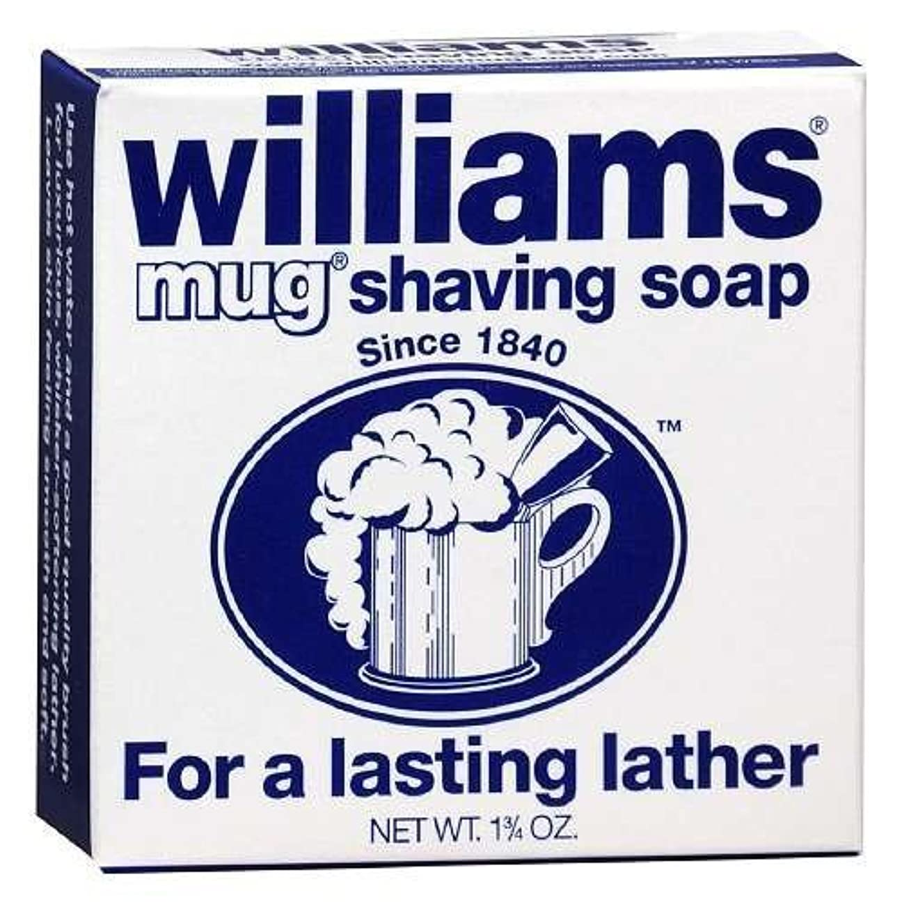 テザー蜂事前にWilliams Mug Shaving Soap - 1.75 Oz (Pack of 24) [並行輸入品]